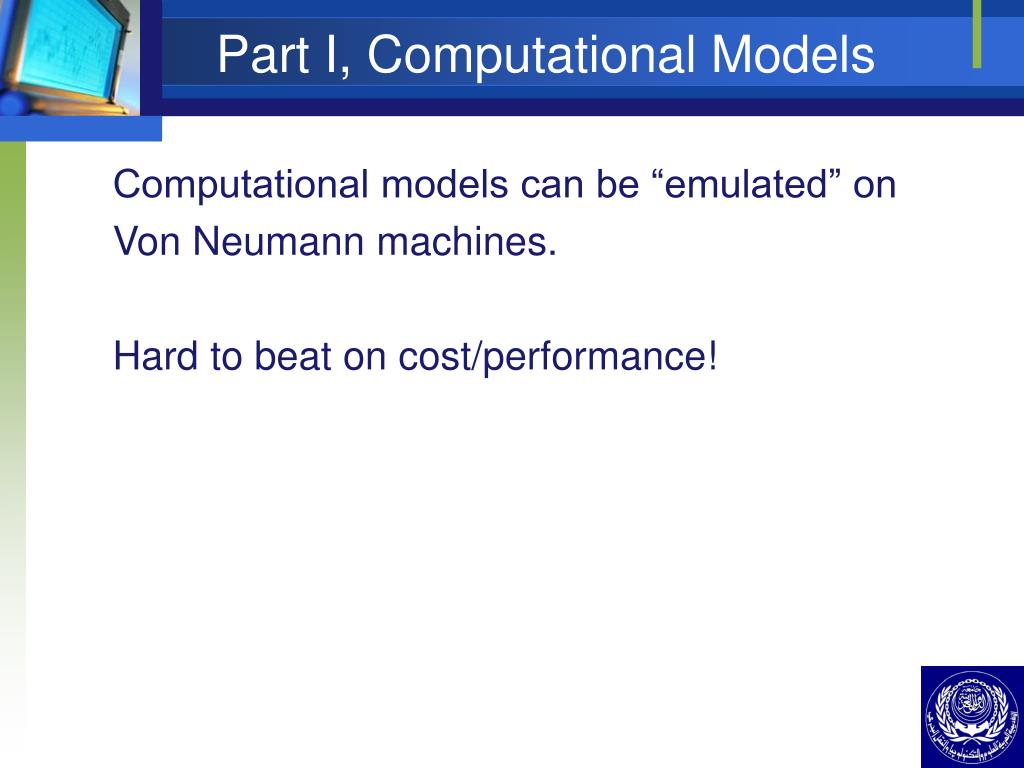 Part I, Computational Models