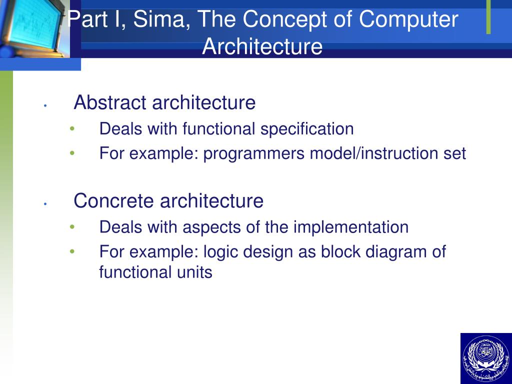 Part I, Sima, The Concept of Computer Architecture