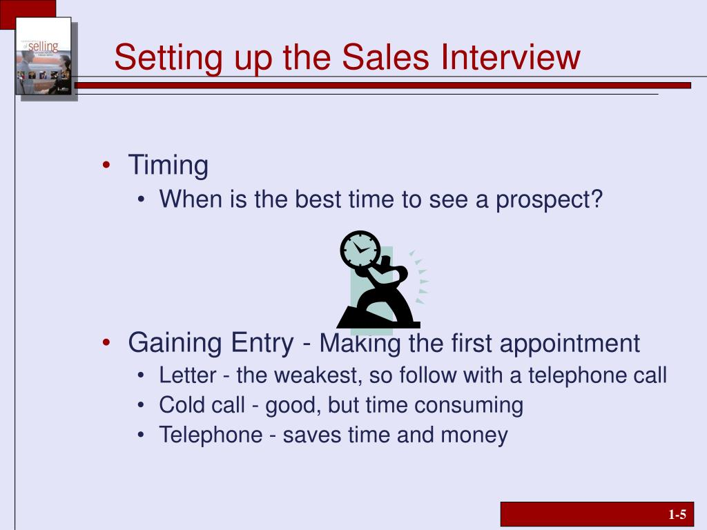 Setting up the Sales Interview