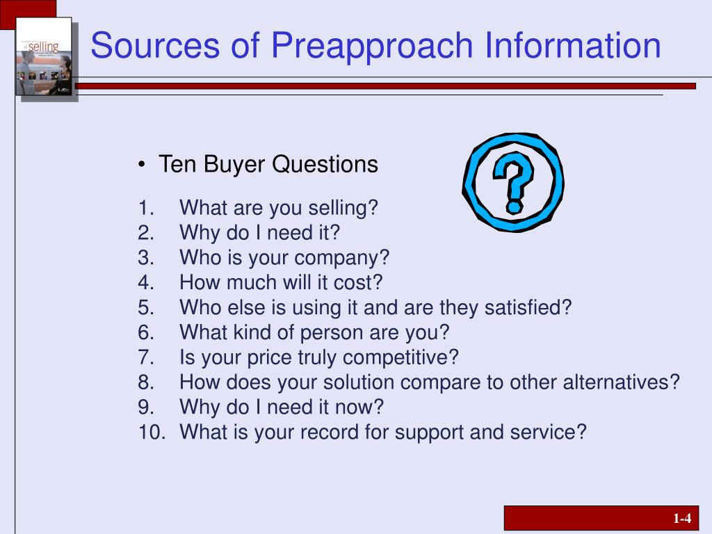 Ten Buyer Questions