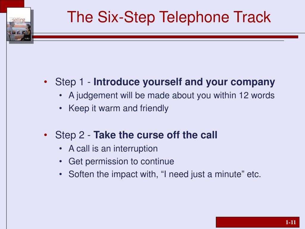 The Six-Step Telephone Track