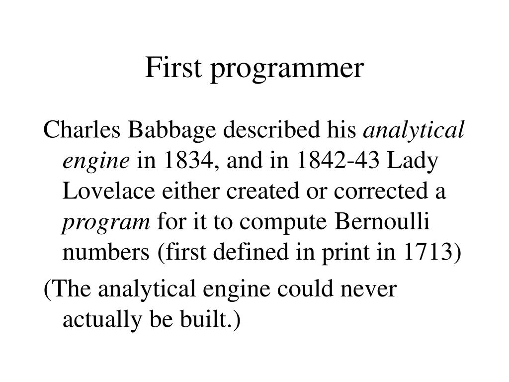 First programmer