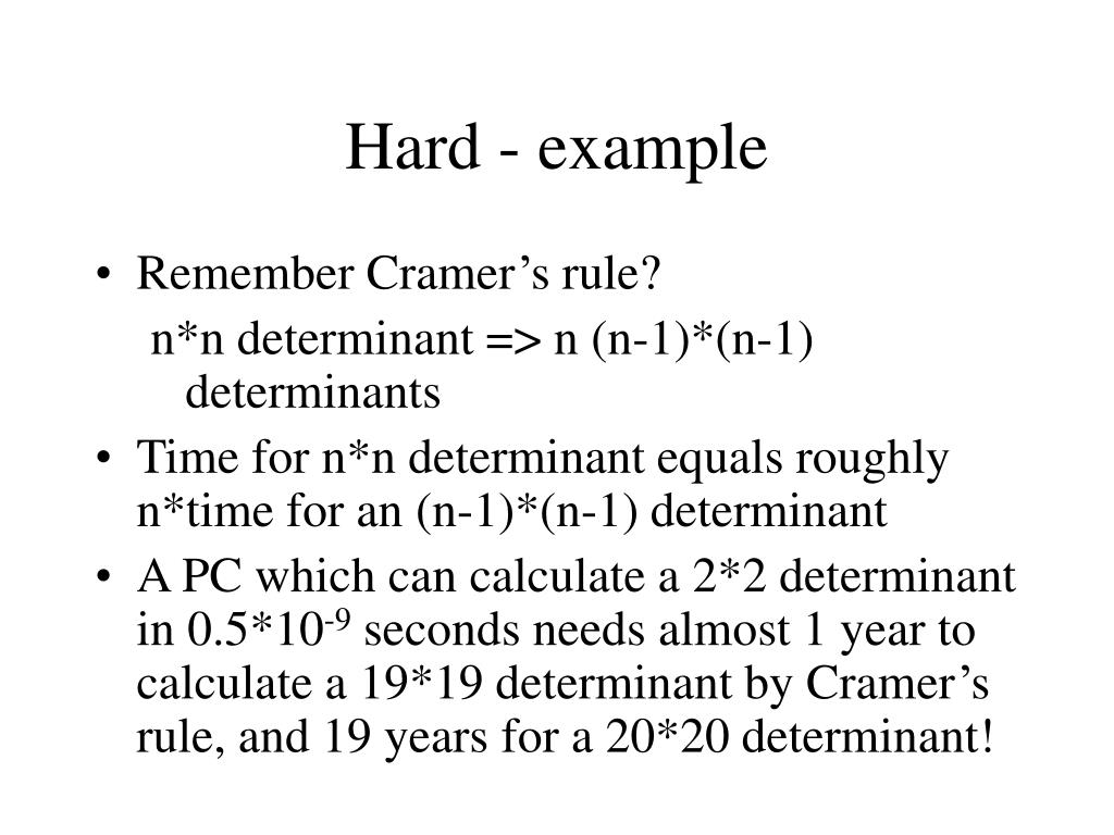 Hard - example