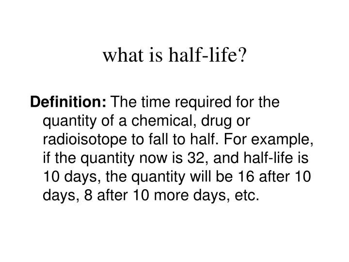 What is half life