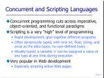 concurrent and scripting languages