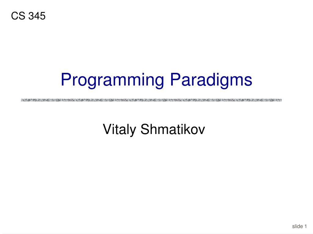 programming paradigms l.