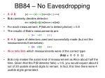 bb84 no eavesdropping