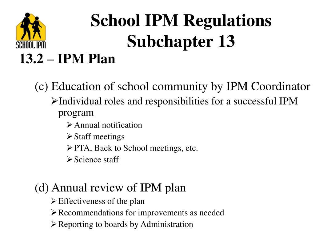 School IPM Regulations
