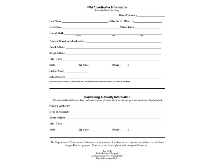 Who does the nj ipm act affect