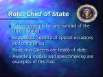 role chief of state