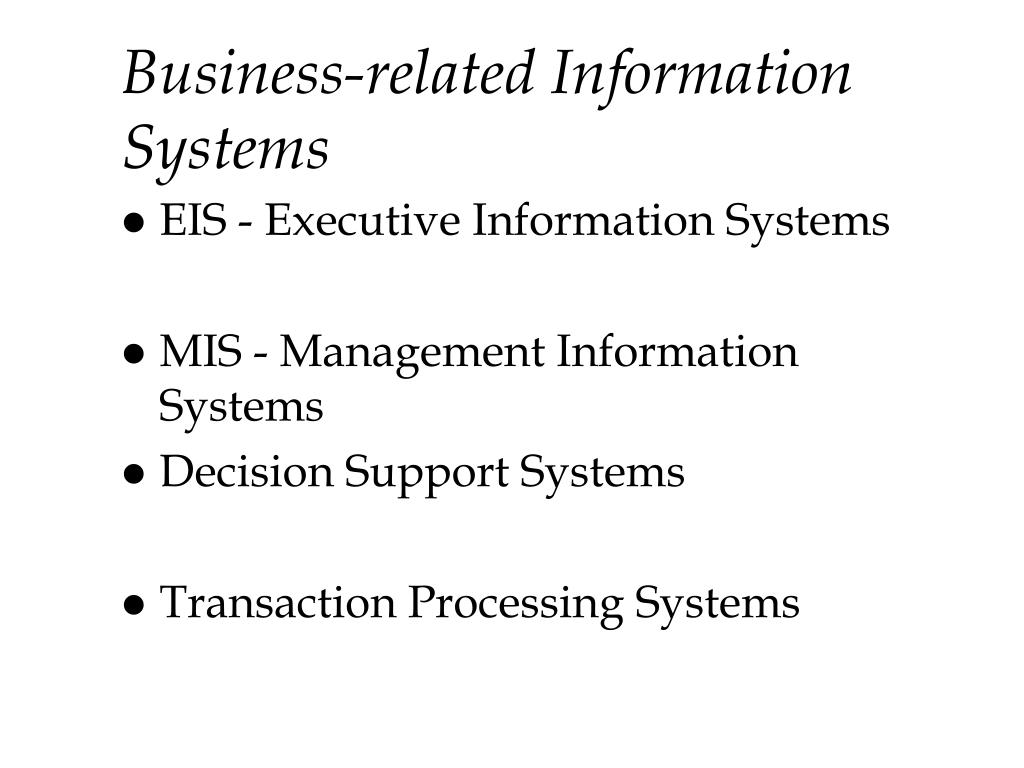 Business-related Information Systems