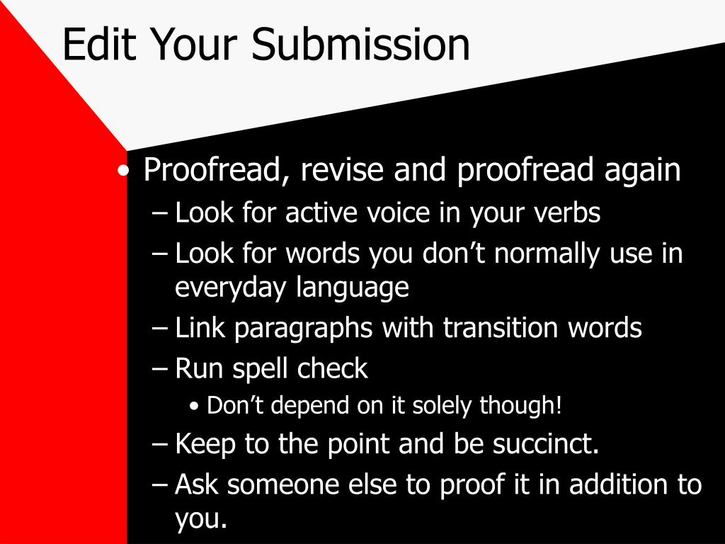Edit Your Submission