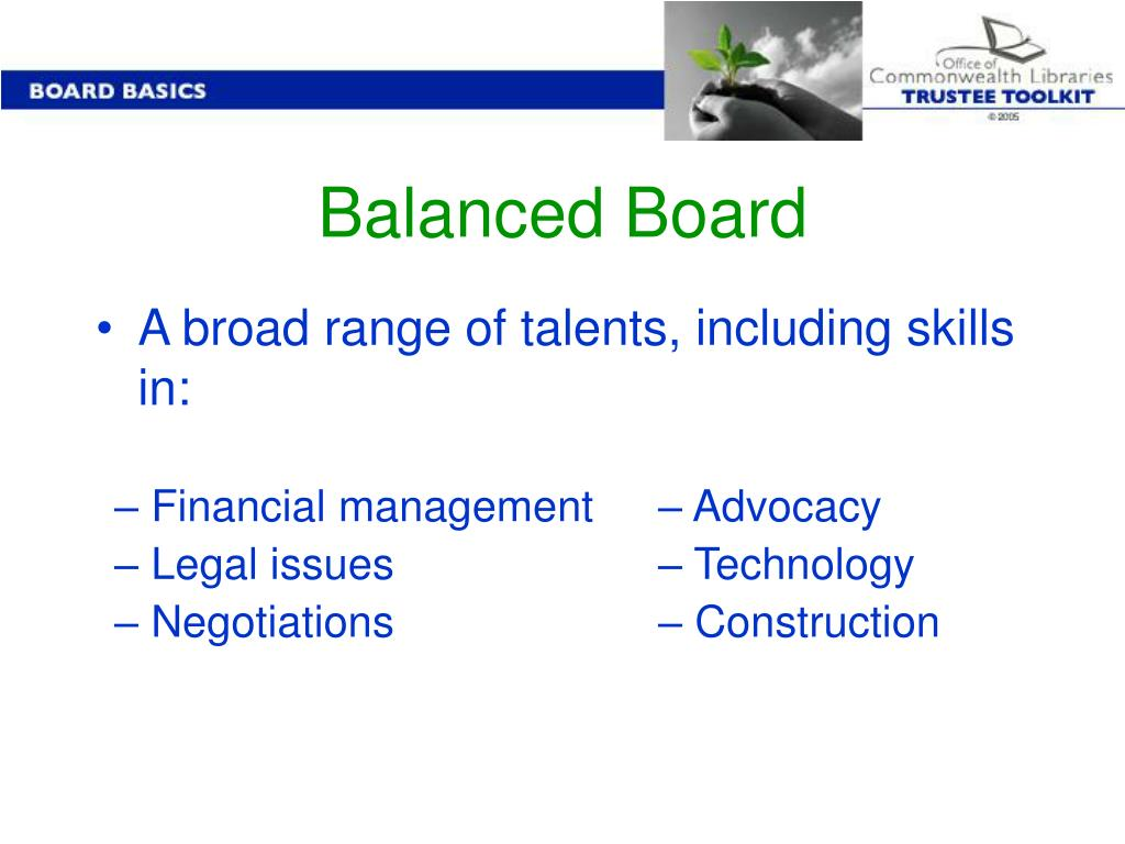 Balanced Board