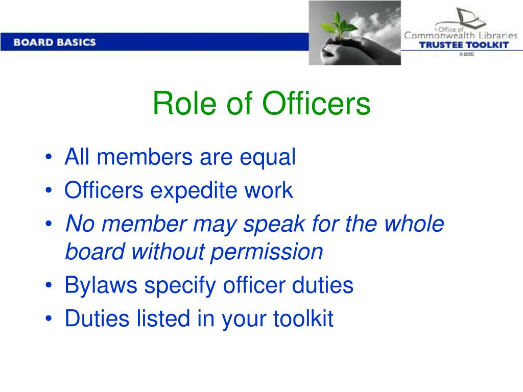 Role of Officers