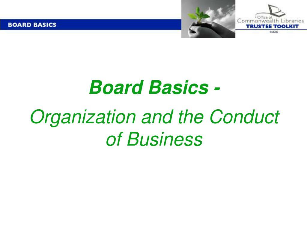Board Basics -