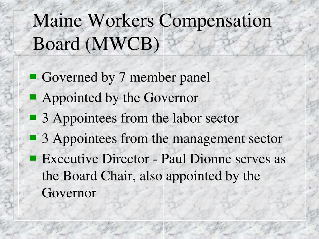 Maine Workers Compensation Board (MWCB)