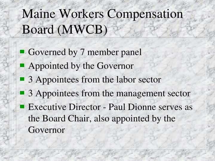 Maine workers compensation board mwcb