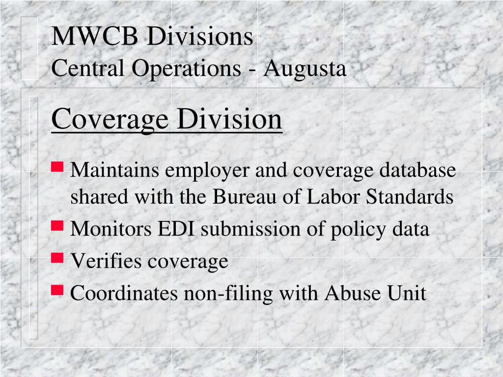 MWCB Divisions