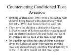counteracting conditioned taste aversion
