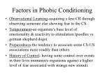 factors in phobic conditioning