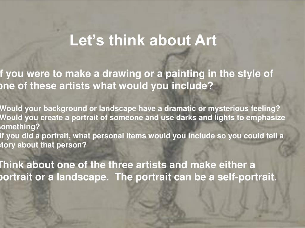 Let's think about Art