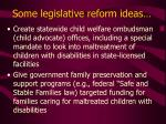 some legislative reform ideas