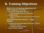 b training objectives46