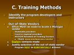 c training methods