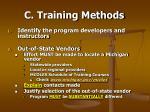 c training methods