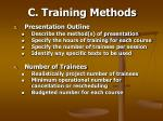 c training methods48