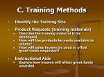 c training methods49