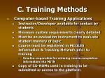 c training methods50