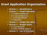 grant application organization