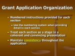 grant application organization60