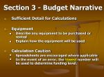 section 3 budget narrative55