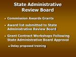 state administrative review board