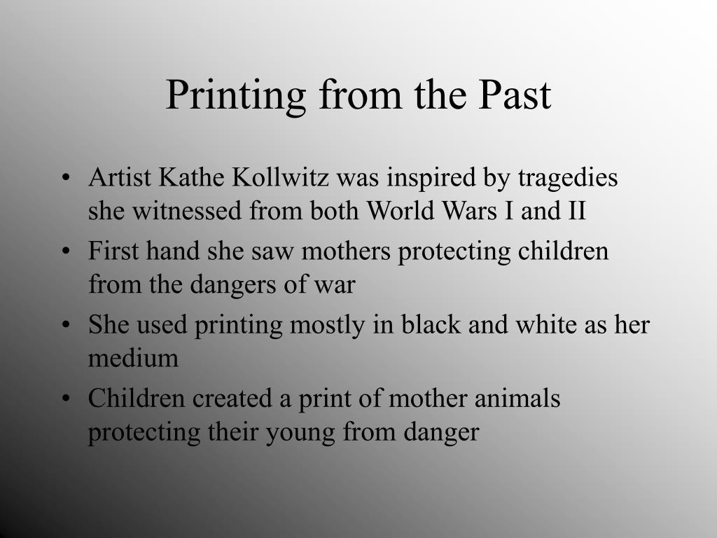 Printing from the Past