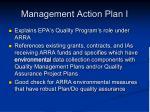 management action plan i