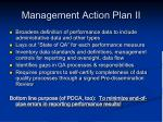 management action plan ii