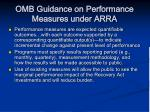 omb guidance on performance measures under arra