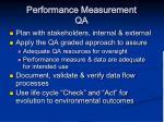 performance measurement qa