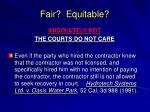 fair equitable