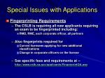 special issues with applications