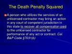 the death penalty squared