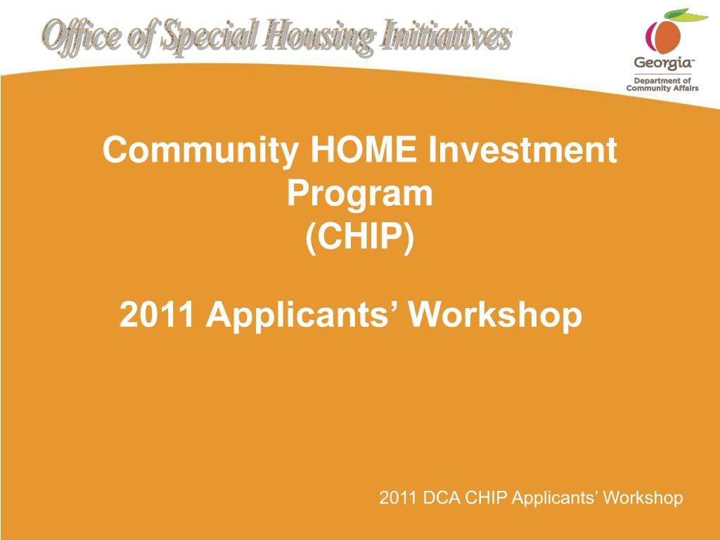 community home investment program chip l.