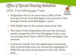 dpa first mortgage fees