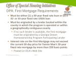 dpa first mortgage requirements