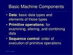 basic machine components