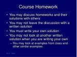 course homework