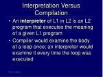 interpretation versus compilation27